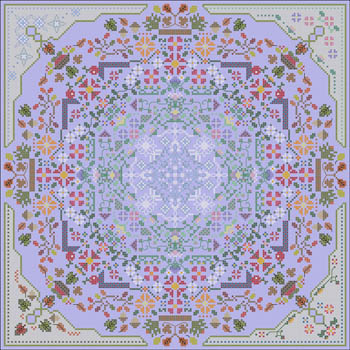 Carolyn Manning Designs - Four Seasons Mandala-Carolyn Manning Designs - Four Seasons Mandala, seasons, fall, spring, summer, winter, cross stitch