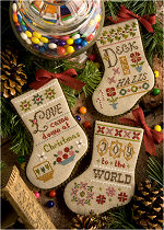 Lizzie Kate - Flora McSample 2015 Christmas Stockings-Lizzie Kate -  Flora McSample 2015 Christmas Stockings, Christmas, ornaments, Christmas tree,