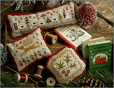 Lizzie Kate - Flora McSample 2016 - Treats-Lizzie Kate - 2016 Flora McSample - Treats Christmas, pin cushions, ornaments, cross stitch