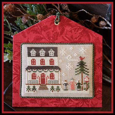 Little House Needleworks - Hometown Holiday - Part 14 - Grandma's House-Little House Needleworks - Hometown Holiday - Part 14 - Grandmas House, grandchildren, home, love, grandparents, cross stitch, town,