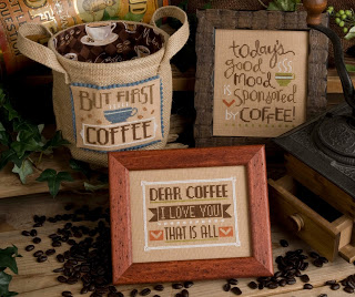 Lizzie Kate - Coffee Time-Lizzie Kate - Coffee Time, coffee beans, cup of joe, cross stitch