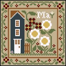 Little House Needleworks - Sampler Months - May & June Thread Pack-Little House Needleworks - Sampler Months - May  June Thread Pack,home, flowers, fruit, calendar, cross stitch