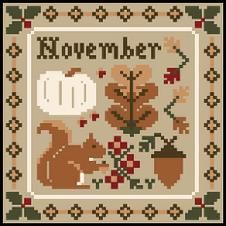 Little House Needleworks - Sampler Months - November & December Thread Packs-Little House Needleworks - Sampler Months - November  December Thread Packs, Thanksgiving, Christmas, calendar, cross stitch