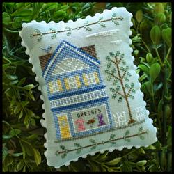 Country Cottage Needleworks - Main Street - Part 6 - Dress Shop-Country Cottage Needleworks - Main Street - Part 6 - Dress Shop, town, cross stitch