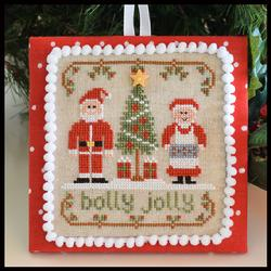 Country Cottage Needleworks - Classic Collection - 8 of 12 - Holly Jolly - Cross Stitch Pattern