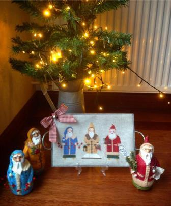 Twin Peak Primitives - Old St. Nicks-Twin Peak Primitives - Old St. Nicks, Santa Claus, Christmas, cross stitch