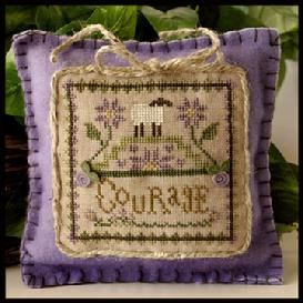 Little House Needleworks - Little Sheep Virtues - Part 04 of 12 - Courage - Cross Stitch Pattern