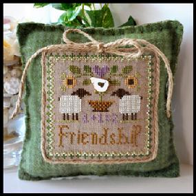 Little House Needleworks - Little Sheep Virtues - Part 09 of 12 - Friendship - Cross Stitch Pattern
