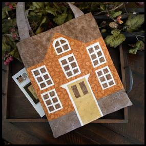 Little House Needleworks - Little House Needleworks Fabric Tote Bag-Little House Needleworks - Little House Needleworks Fabric Tote Bag, sewing bag, logo,