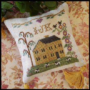 Little House Needleworks - ABC Samplers - IJK-Little House Needleworks - ABC Samplers - IJK, alphabet, samplers, house, sheep, pincushion, cross stitch