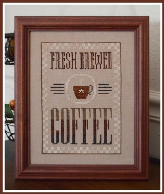Little House Needleworks - Fresh Brewed Coffee-Little House Needleworks - Fresh Brewed Coffee, java,