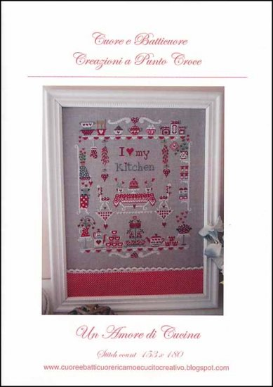 Cuore e Batticuore - I Love My Kitchen - Cross Stitch Pattern