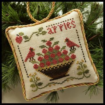 Little House Needleworks - The Sampler Tree - Part 6 of 12 - Sweet Apples