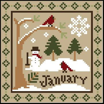 Little House Needleworks - Sampler Months - January & February Thread Packs-Little House Needleworks - Sampler Months - January  February Thread Packs, monthly charts, calendar, classic colorworks threads, cross stitch