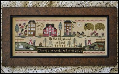 Little House Needleworks - Hillside Travelers -Cross Stitch Pattern