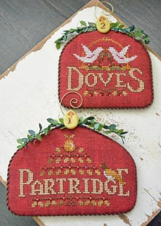 Hands On Design - 12 Days - Part 1 - Partridge & Doves-Hands On Design - 12 Days - Part 1 - Partridge  Doves, Christmas ornaments, song, cross stitch
