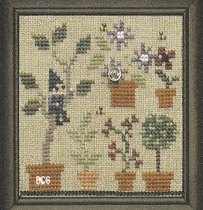 Bent Creek - The Green House - Part 3 of 3 - The Potting Room - Snapper - Cross Stitch Chart