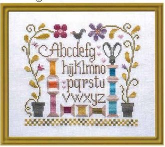 Jardin Prive - Jardin de Bobines-Jardin Prive - Jardin de Bobines, bobbins, sewing, thread, sampler, cross stitch,