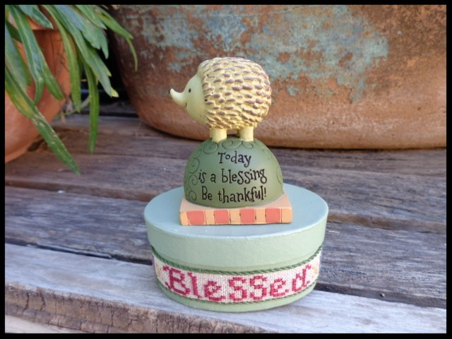 Faithwurks Designs - Hedgehog Blessings Box - Limited Edition-Faithwurks Designs - Hedgehog Blessings Box, prayers, animal, cross stitch