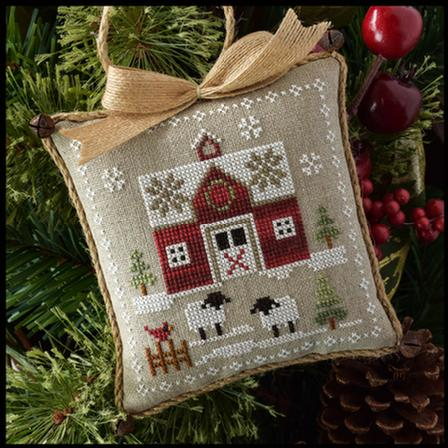 Little House Needleworks - Farmhouse Christmas - Part 1 - Little Red Barn-Little House Needleworks - Farmhouse Christmas - Part 1, Little Red Barn, country, animals, snow, cross stitch, Classic Colorworks,