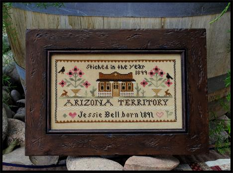 Little House Needleworks - Jessie Bell - Arizona Territory -Cross Stitch Pattern-Little House Needleworks - Jessie Bell - Arizona Territory -Cross Stitch Pattern