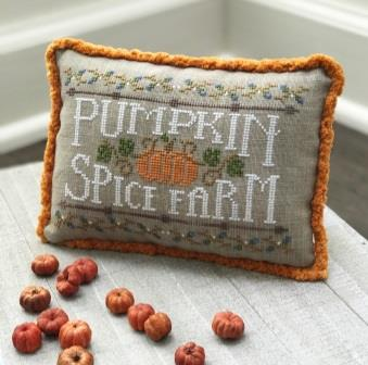 Hands On Design - Pumpkin Spice Farm-Hands On Design - Pumpkin Spice Farm, pumpkins, farming, autumn, fall, cross stitch