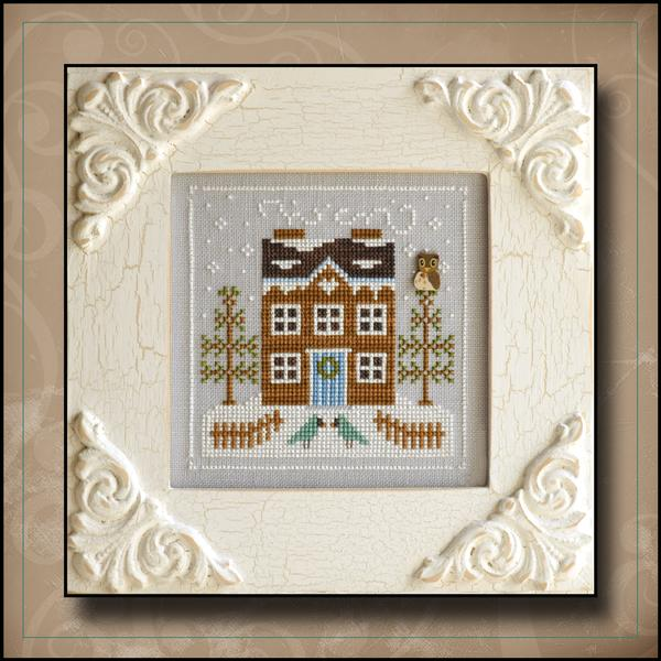 Country Cottage Needleworks - Frosty Forest - Part 5 of 9 - Bluebird Cabin - Cross Stitch Pattern