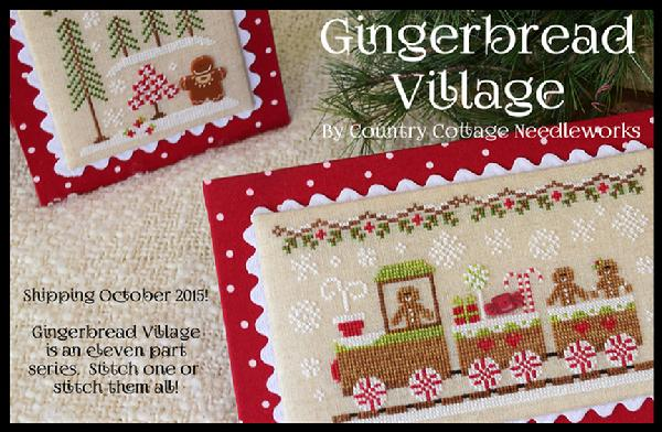 Country Cottage Needleworks - Gingerbread Village - Part 01 - Gingerbread Train-Country Cottage Needleworks - Gingerbread Village, Gingerbread Train, Christmas, Gingerbread man, cross stitch,