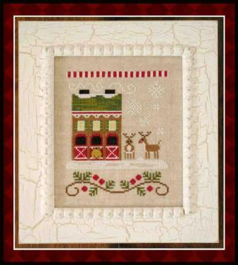 Country Cottage Needleworks - Santa's Village - Part 06 of 12 - Reindeer Stables - Cross Stitch Pattern