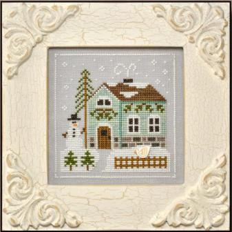 Country Cottage Needleworks - Frosty Forest - Part 3 of 9 - Snowman's Cottage - Cross Stitch Pattern