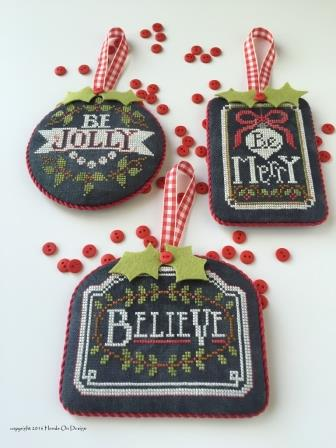 Hands On Design - Chalkboard Ornaments - Christmas Collection Part 1