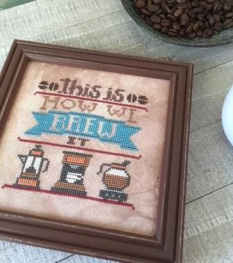 Hands On Design - Cool Beans - Brew It-Hands On Design - Cool Beans - Brew It, coffee, coffee machine, automatic drip, kerig, cross stitch, french press, espresso,