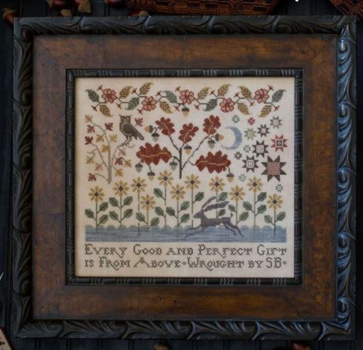 Plum Street Samplers - Autumn Gifts-Plum Street Samplers - Autumn Gifts, gifts from God, prayers, gratitude, cross stitch