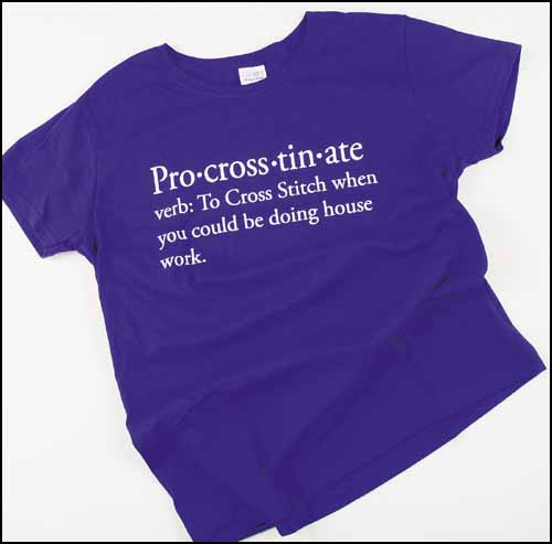 Yarn Tree - Pro-cross-tin-ate T-Shirt, Purple Large