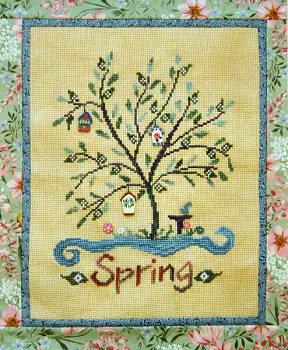 SamSarah Design Studio - Spring Tree House - Cross Stitch Pattern