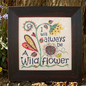 SamSarah Design Studio - I Will Always Be A Wildflower - Cross Stitch Pattern