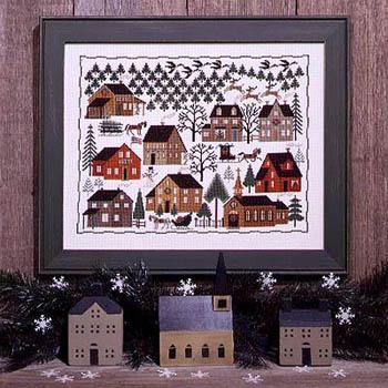 Prairie Schooler - Christmas Village-Prairie Schooler - Christmas Village, houses, Christmas