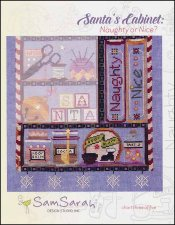 SamSarah Design Studio - Santa's Cabinet - Part 3 - Naughty or Nice?-SamSarah Design Studio - Santas Cabinet, Naughty or Nice, Santa Claus, Christmas, cross stitch,