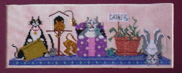 A Kitty Kats Original - Kittie Row - Cross Stitch Pattern