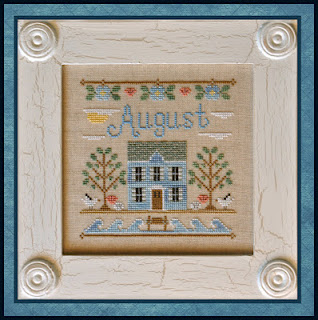 Country Cottage Needleworks - Cottage of the Month 08 - August Cottage - Cross Stitch Pattern-Country Cottage Needleworks - Cottage of the Month 08 - August Cottage - Cross Stitch Pattern