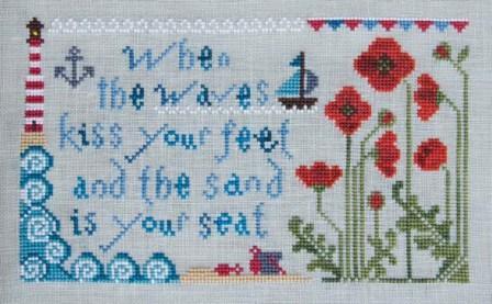 Cottage Garden Samplings - My Garden Journal - Part 08 of 12 - August Poppy - Cross Stitch Pattern