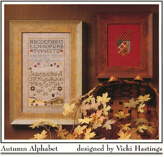 Cross-Eyed Cricket - Autumn Alphabet - Cross Stitch Pattern