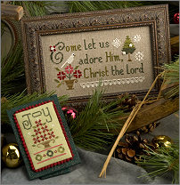 Lizzie Kate - Inspiration Boxer - Come Let Us Adore Him Kit-Lizzie Kate - Inspiration Boxer - Come Let Us Adore Him Kit, Jesus, Christmas, 3 wise men, nativity, cross stitch