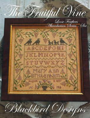 Blackbird Designs - Loose Feathers - Abecedarian Series - Part 6 of 12 - The Fruitful Vine - Cross Stitch Pattern