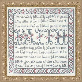 My Big Toe Designs - Building Blocks - Faith - Cross Stitch Pattern