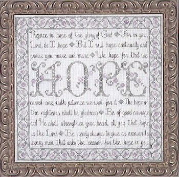 My Big Toe Designs - Building Blocks - Hope - Cross Stitch Pattern