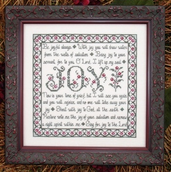 My Big Toe Designs - Building Blocks - Joy - Cross Stitch Pattern