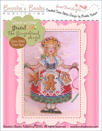 Brooke's Books - Sweet Treat Angels - GRETEL The Gingerbread Angel Cross Stitch Chart Pack