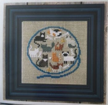 Bent Creek - Yarn Ball of Kitty Cats Kit-Bent Creek - Yarn Ball of Kitty Cats Kit, cats, kittens, playing, yarn, tangles, cross stitch