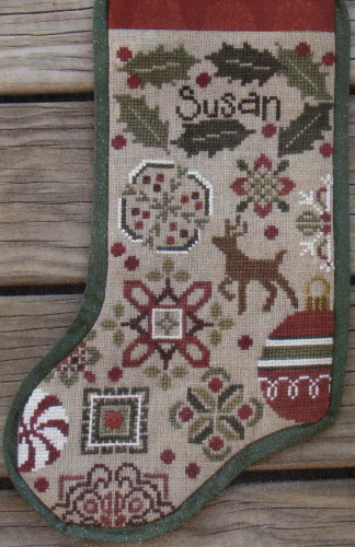 Bent Creek - Holly Quaker Stocking - Cross Stitch Pattern